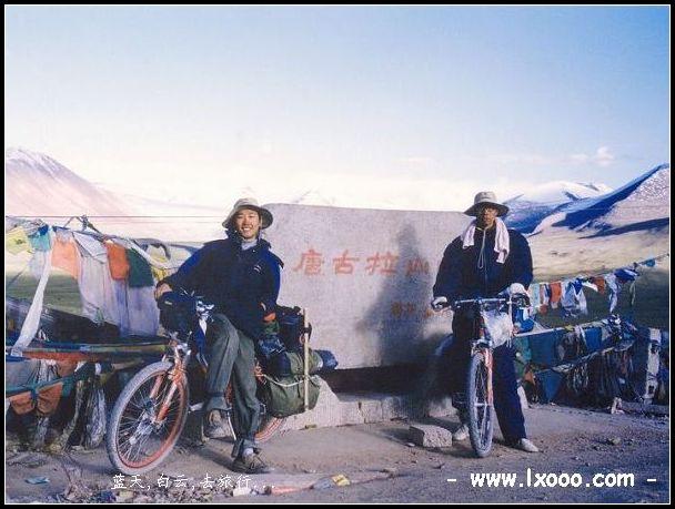 摩凝和阿一在西藏唐古拉山口