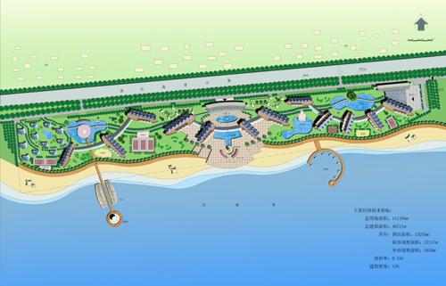 鲘门金海岸渡假村规划图