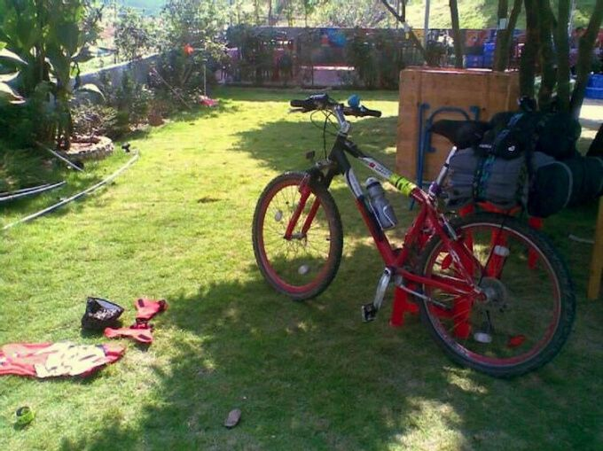 南昆山脚的自行车