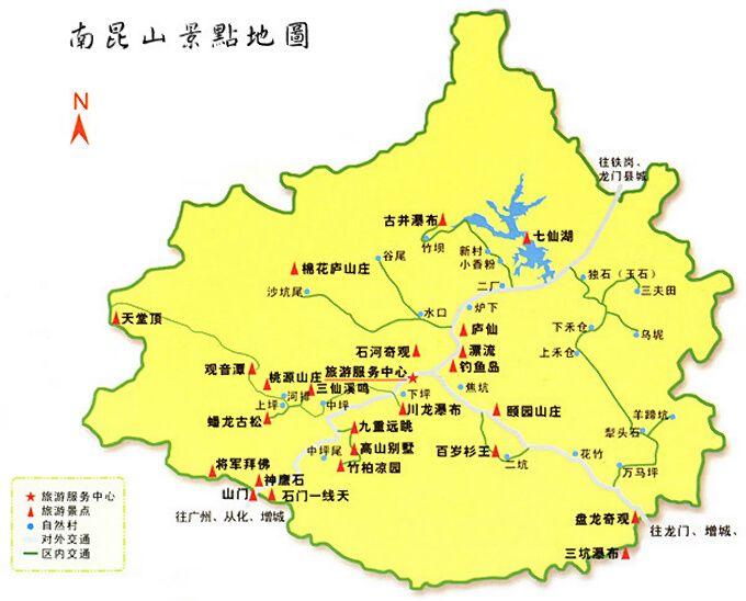 南昆山导游地图