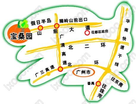 宝桑园交通图@自驾宝桑园活动计划