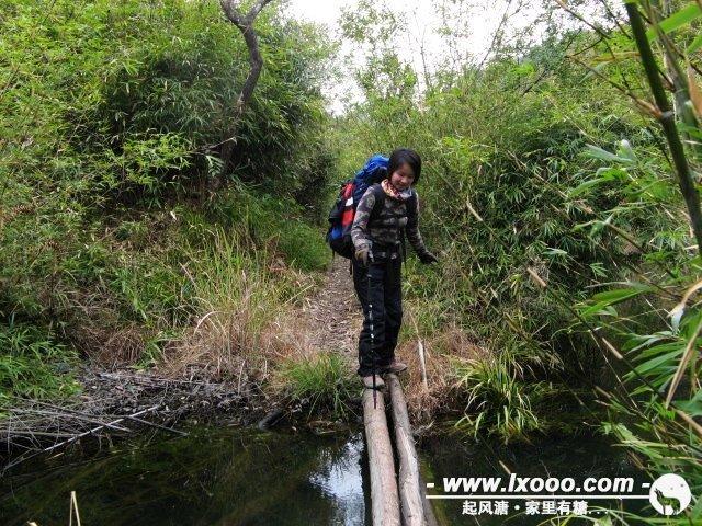 从一户人家到牛鼻之间的峡谷,我们多次经过这样的小木桥。
