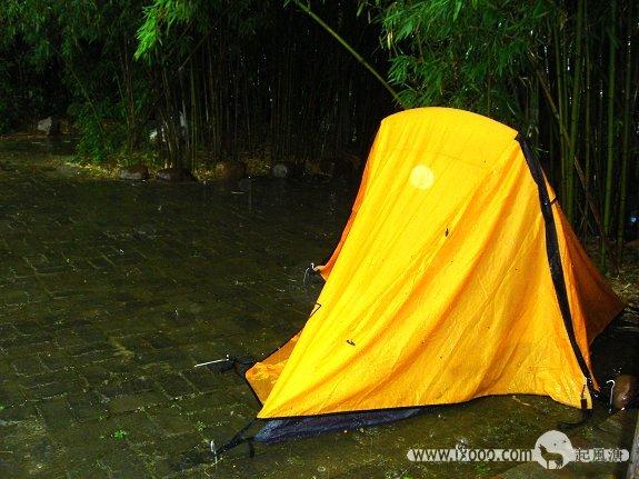 雨中大圩古镇毛洲岛上Sammi的帐篷
