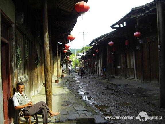 大圩古镇的石板街