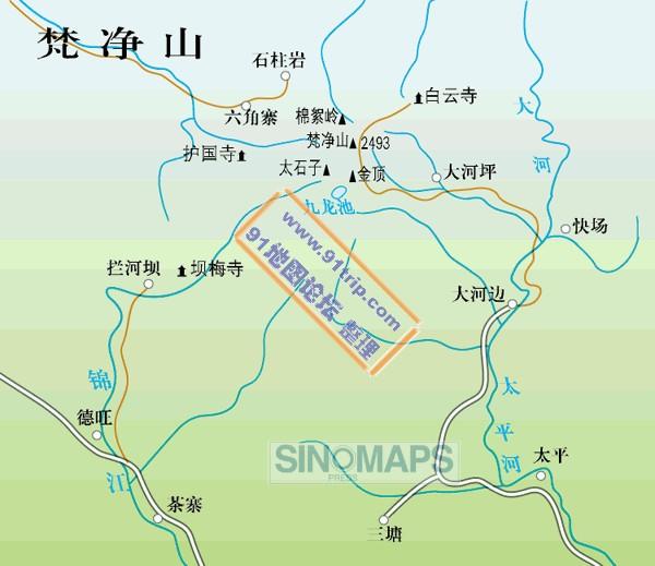 梵净山地图