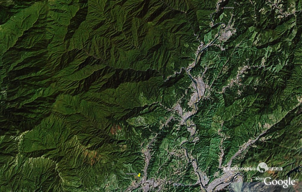 梵净山地形图 下