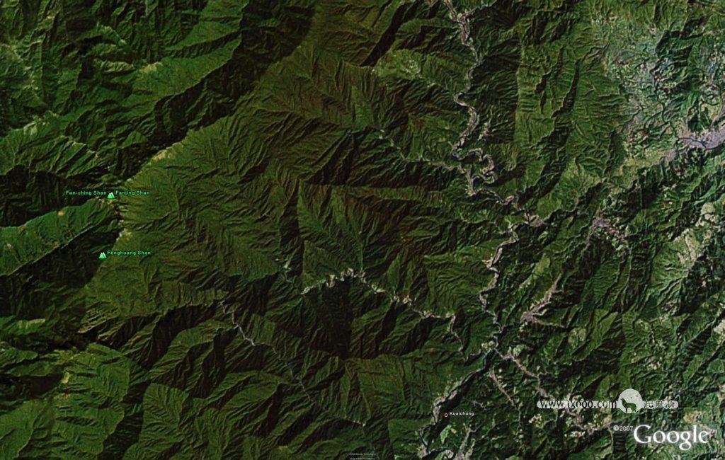 梵净山地形图 中