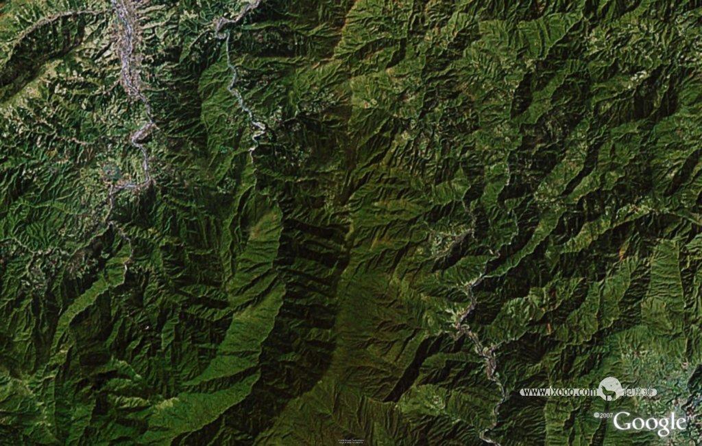 梵净山地形图 上