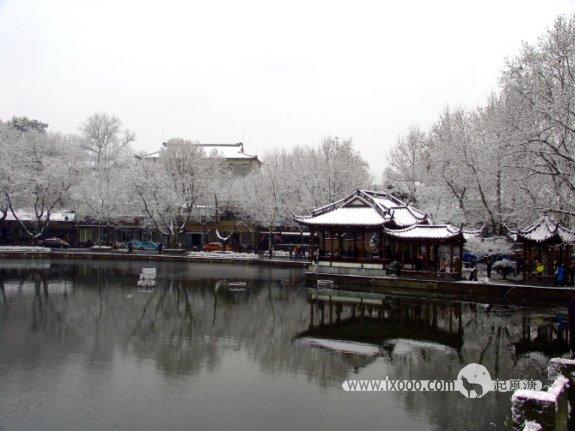 杭州西湖雪景·倒影