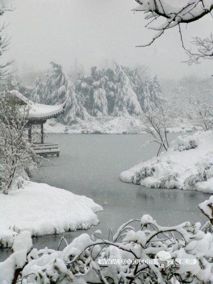 杭州西湖雪景·银装素裹