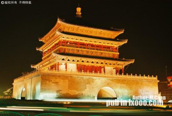 胶卷相片:西安鼓楼夜景