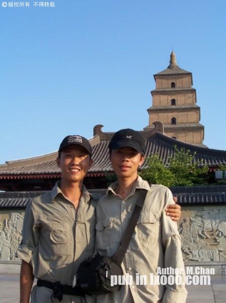 西安大雁塔广场留影的摩凝(M.Chan)与河童%22