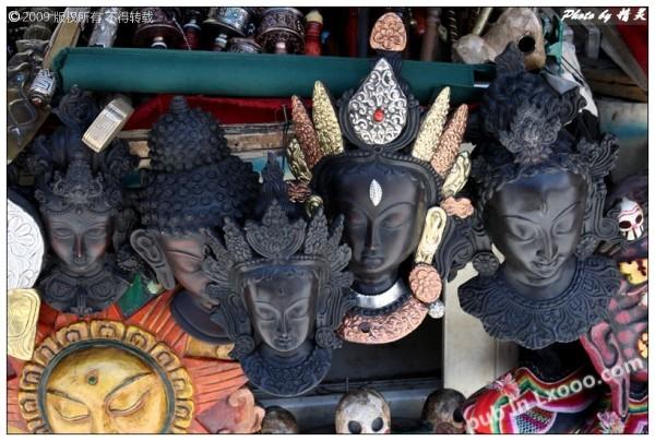 木制菩萨面具·西藏拉萨