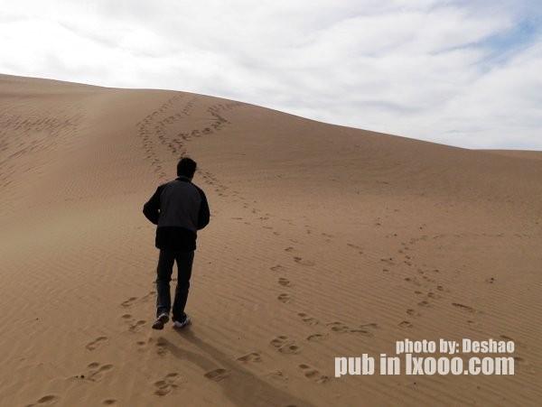 青海湖边的沙丘