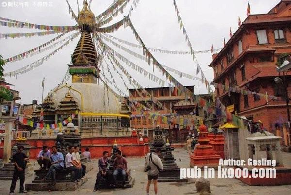 尼泊尔的神庙风光