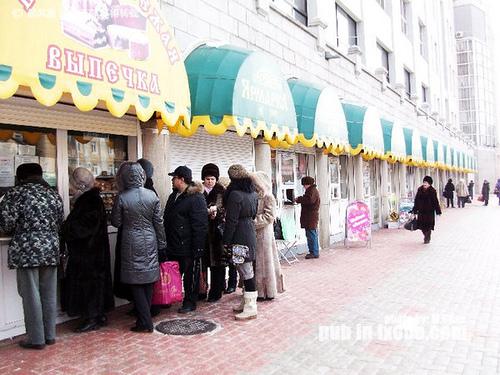 布拉戈维申斯克的街边商铺