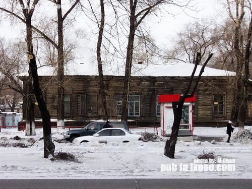 布拉戈维申斯克的木屋
