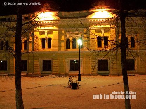 布拉戈维申斯克胜利广场夜景