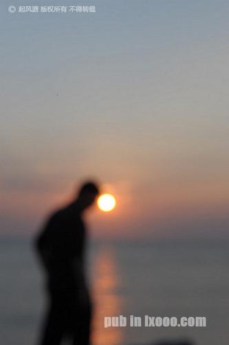日落时模糊的剪影@红海湾金丽湾
