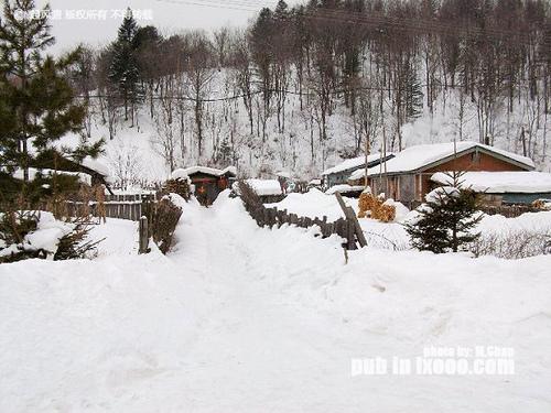 积雪深厚的门廊