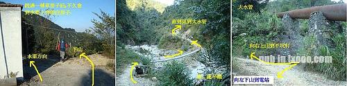 白房子→大水管 徒步指引图