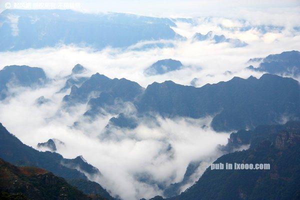 从高处往下看的云海