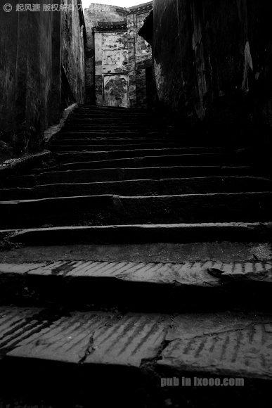 洪江古商城的石板台阶