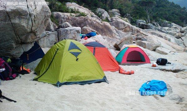 在大鹏半岛大鹿港的营地