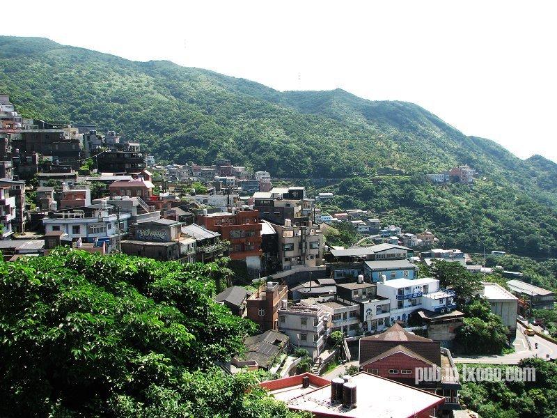 台湾东北角海岸之 九份山城