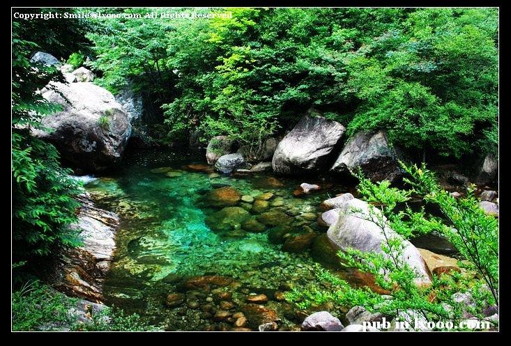 黄山 翡翠谷 碧泉