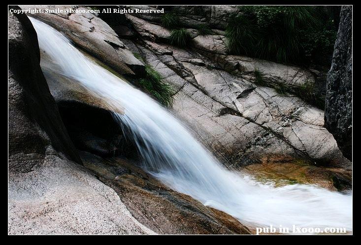 黄山 翡翠谷 泉水