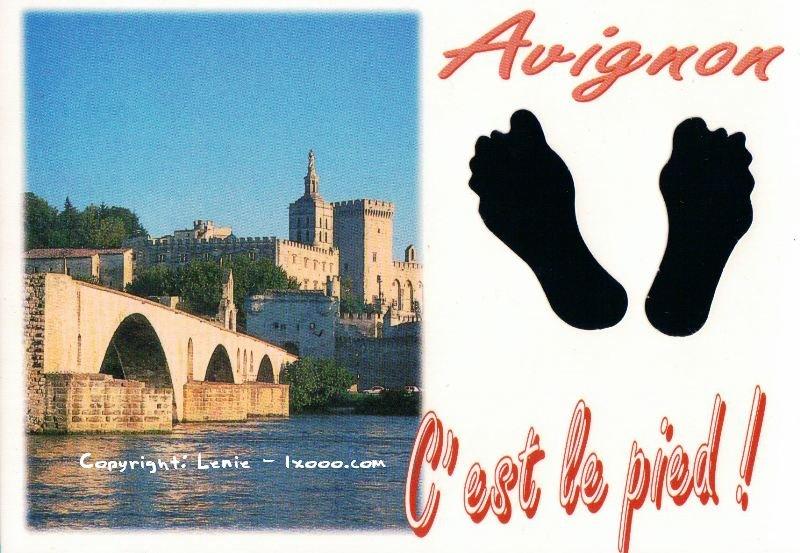 亚维农 Avignon 阿维尼翁 明信片 亚维农圣贝内泽桥 Pont St-Benezet