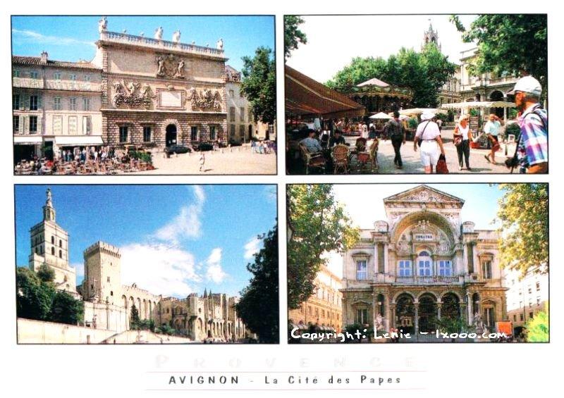亚维农 Avignon 阿维尼翁 明信片 普罗旺斯 Provence 风光