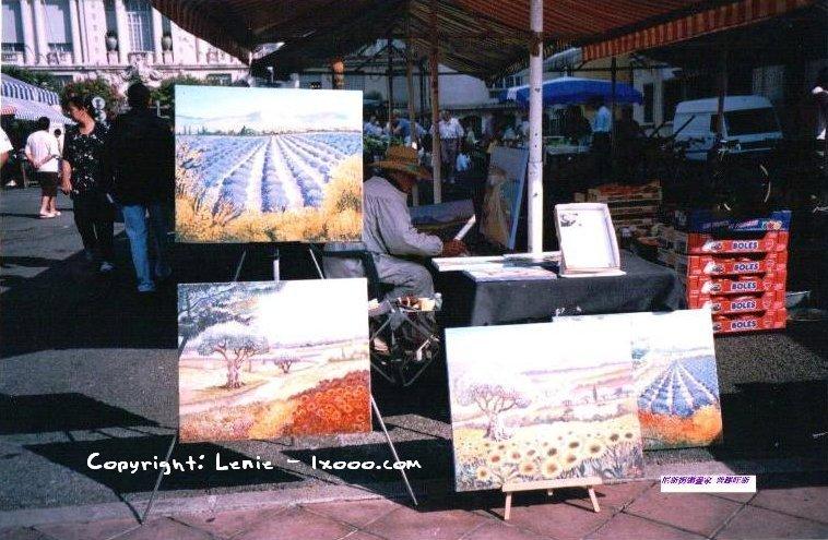 普罗旺斯(Provence)街边现场作画