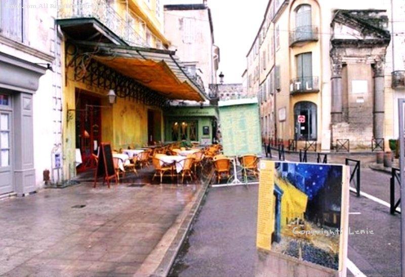 梵谷 梵高 画作 星空下的咖啡屋