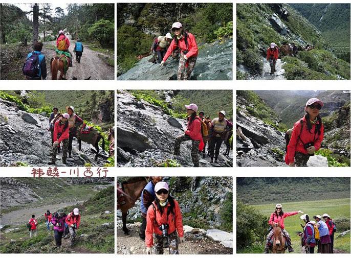上山的路需要下马走一段,高原登山还是有些难度的。
