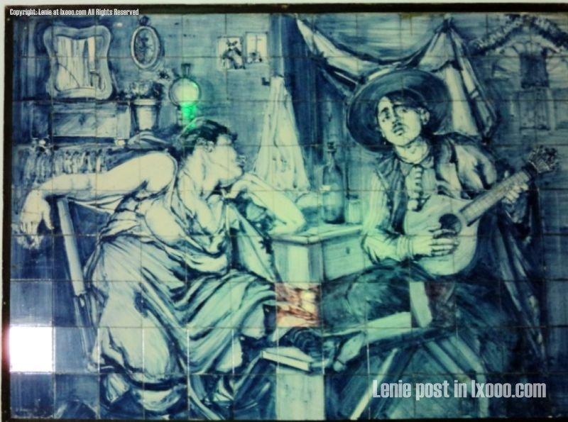 餐厅 瓷砖 壁画