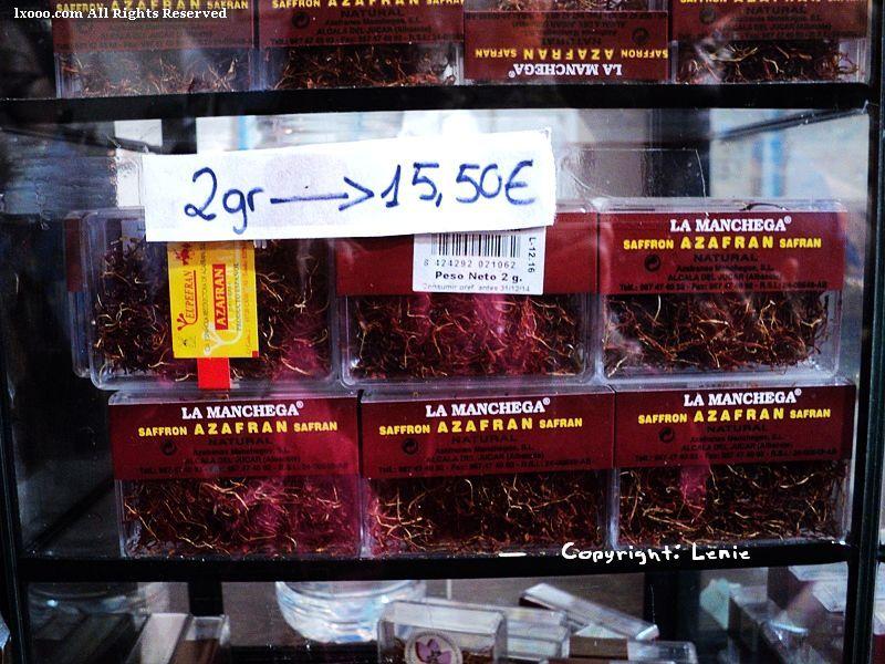干燥的调味品 番红花