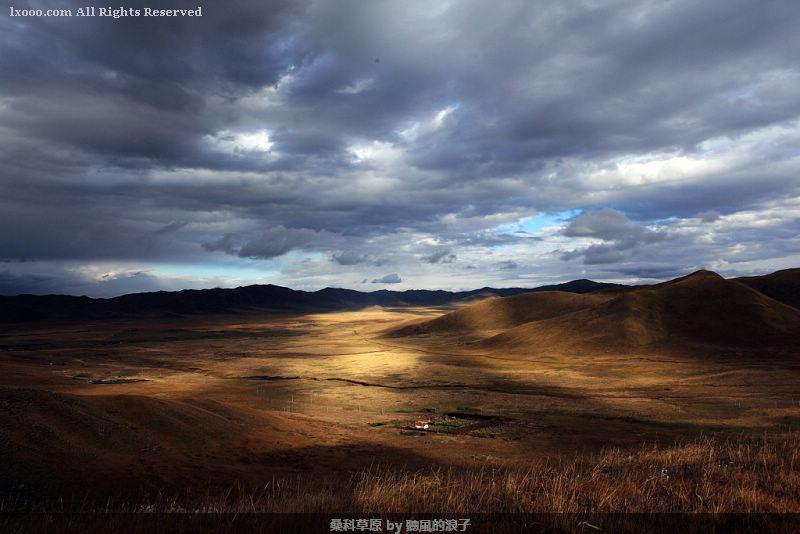唐克草原变化莫测的光影