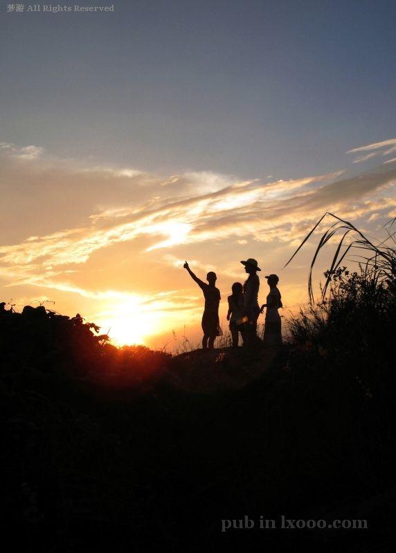 江牡岛 日落