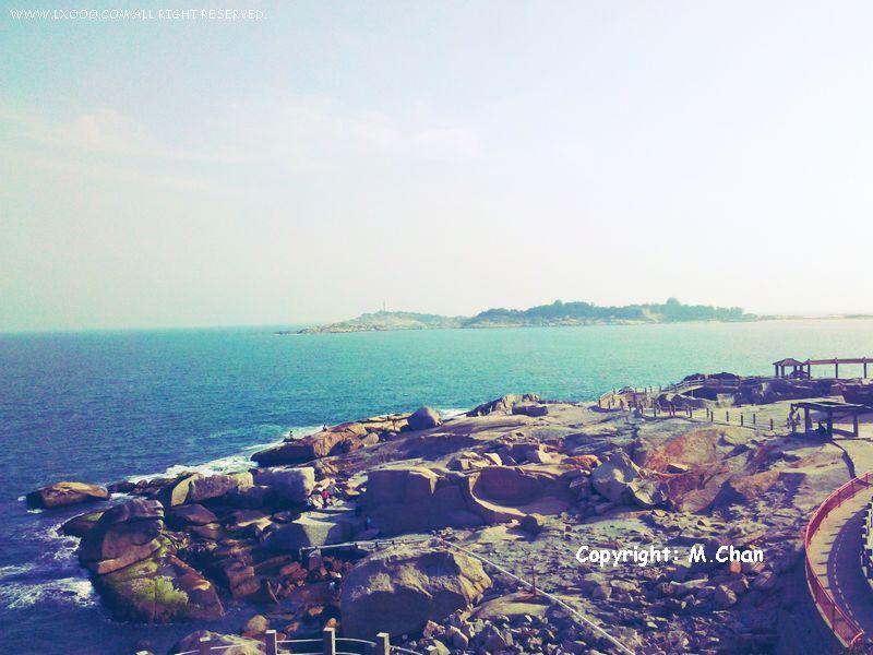 从观音山远眺灯塔,红海湾遮浪半岛