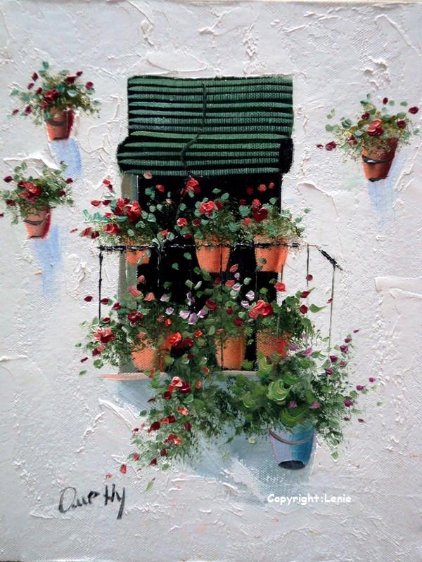 科尔多瓦路边画家的油画作品