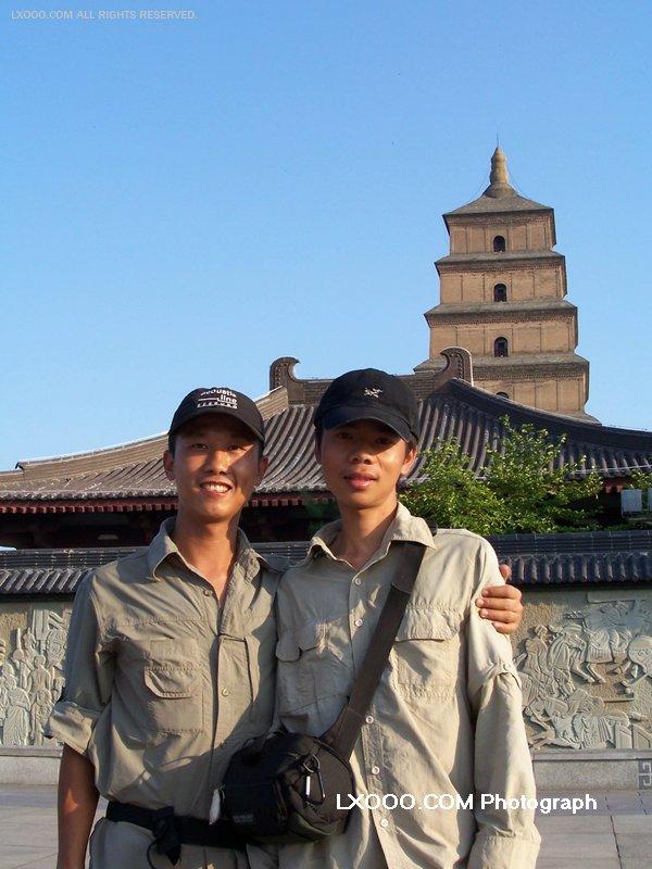 2005年七月,在西安留影