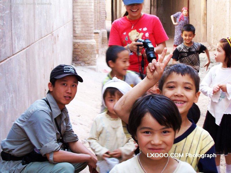 2005年八月,在新疆喀什街头