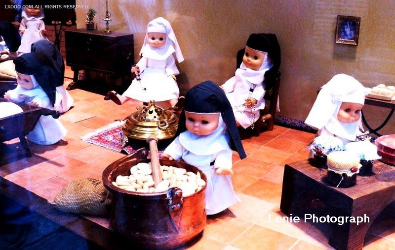 托莱多的修女糕饼店橱窗