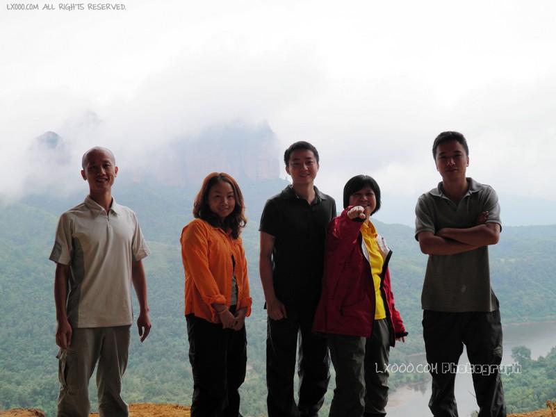 丹霞山五仙岩合影(摩凝、一一、山奇、叶子和德少)