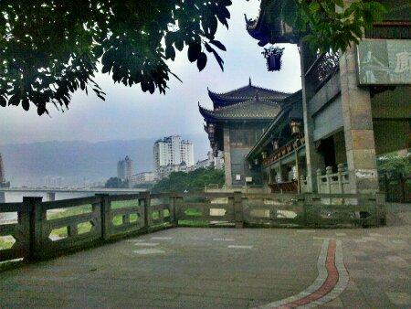 雅安青衣江畔的廊桥