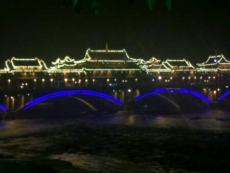 雅安廊桥夜景
